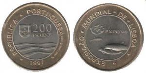 200 Escudos - Expo 98 Golfinho