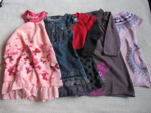 Lot habits fille 98-104