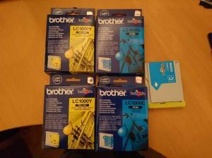 4x cartouche brother lc1000 cyan & jaune ou à la pièce