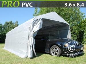 Zeltgarage PRO 3,6x8,4x2,68m PVC, Grau