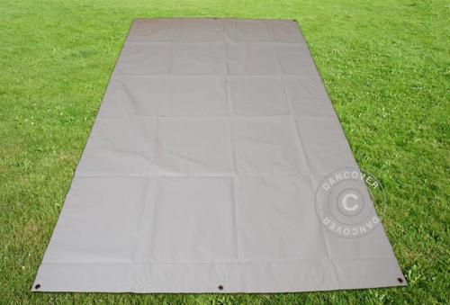 Bodenplane, 4,5x8,5m PVC, Grau