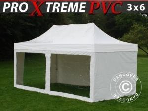 Faltzelt FleXtents Xtreme Heavy Duty 3x6m Weiß, mit 6