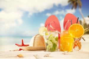 Vendeur de boissons et de collations sur la plage