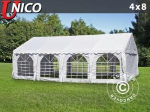 Partyzelt UNICO 4x8m, Weiß