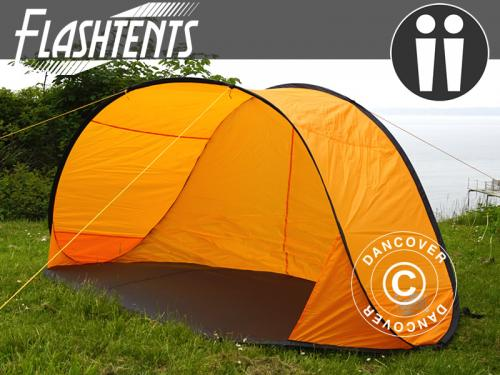Strandzelt, FlashTents®, 2 Personen, Orange/Dunkelgra