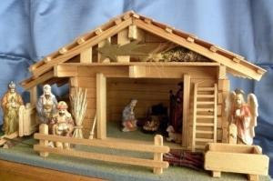 Crèche de Noël artisanale