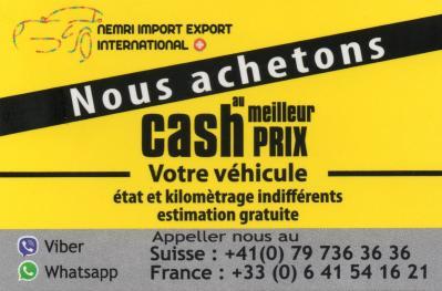 achete cash toutes marque de véhicule