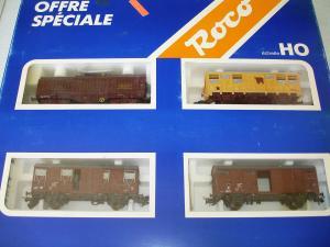 Roco HO 4031F SNCF set de 4 wagons de marchandises