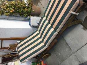 chaise longue teck massif