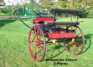 TILBURY taille cheval, deux-roues, en bleu