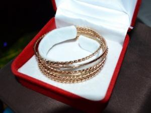 Set 7 bracelets en or 18 carat
