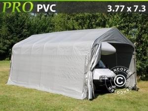 Zeltgarage PRO 3,77x7,3x3,24m PVC, Grau