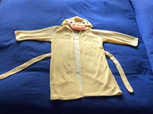 Jolie peignoir Canard jaune Taille 98
