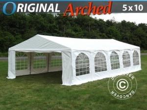 "Partyzelt Original 5x10m PVC, ""Arched"", Weiß"