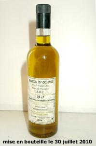 bouteille Huile d'olive BIO extra vierge,