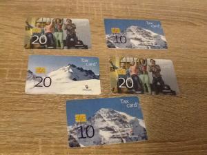 Taxcard   5x le lot