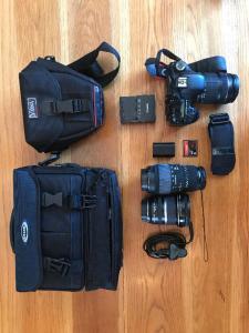 Canon 7d MK1 + 3 lentilles + 2 sacs