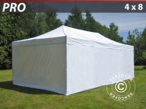 Faltzelt FleXtents PRO 4x8m Weiß, mit 6 wänden