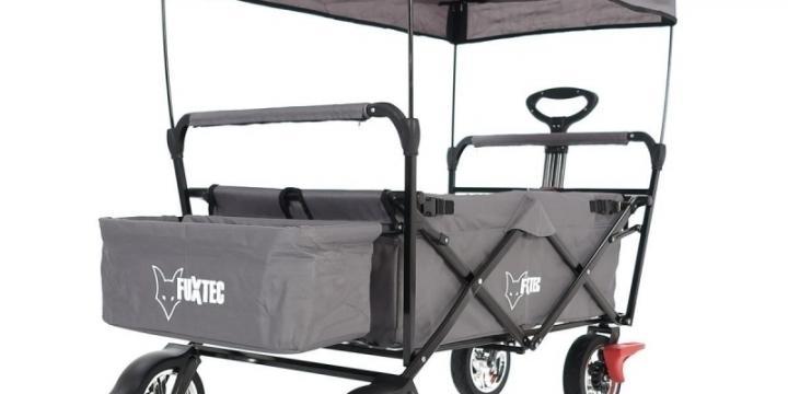 FUXTEC Chariot GRIS avec Toit ouvrant FX-CT500