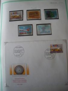 enveloppe timbré oblitéré et timbre neuf