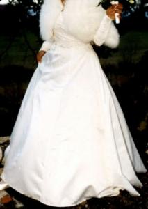 Robe de mariée en satin, taille 36