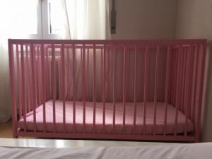Lit bebe rose Ikea