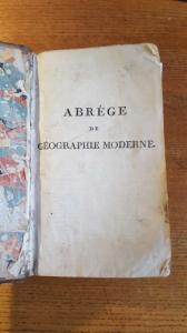 Livre de Géographie de 1806