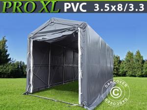 Lagerzelt PRO 3,5x8x3,3x3,94m, PVC, Grau
