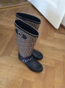 Bottes de pluie style léopard