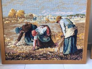 """Tableau tissé """"Les glaneuses de Millet"""""""