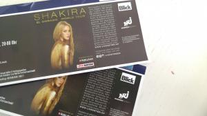 2 billets concert Shakira 22.06.2018