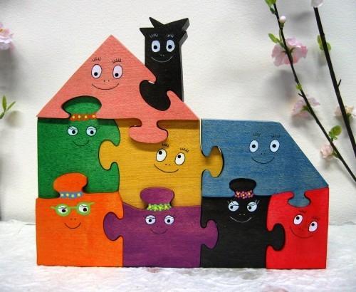 Puzzles3D Barbapapa (famille compléte)