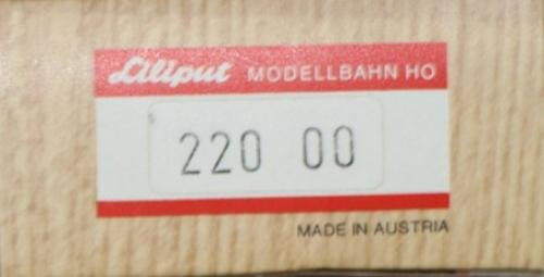 Lot de 4 Liliput Meistermodell HO 220 00 sans chargement