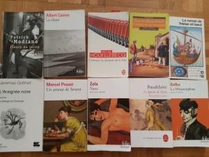 Plusieurs romans classiques gymnase
