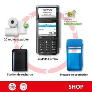 Terminal de paiement myPOS Combo dès 299.- HT