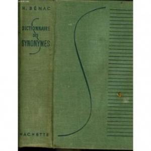 Dictionnaire des synonymes de H Benac
