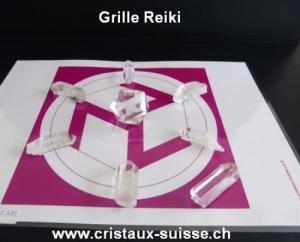 Reiki avec les cristaux et grille