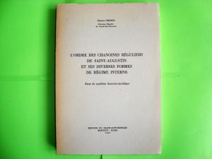 L'ordre des chanoines régulier de Saint-Augustin