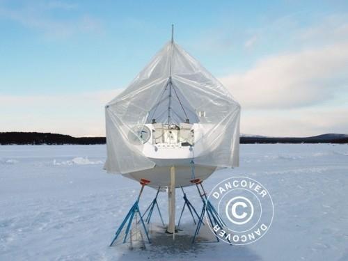 Bootsdeck-Rahmen mit Außenrand für Bootsplane, 11m/4