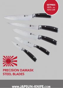 série de 5 couteaux excellence japonaise