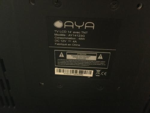 Petite Tv LCD 14' marque AYA