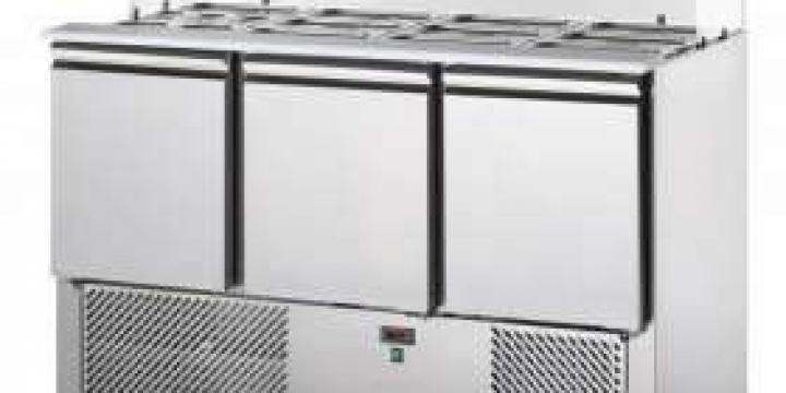 Saladette réfrigérée 3 portes avec vitrine