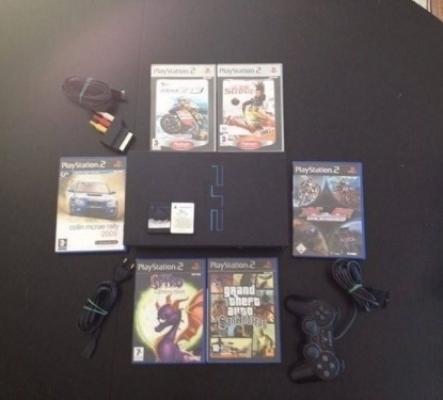 PS2 Fat + 6 jeux Complet