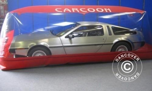 Carcoon 5,05x2 m Durchsichtig/Rot, Innenbereich