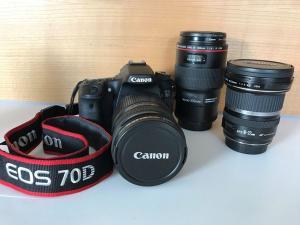 Canon 70 D + 3 objectifs