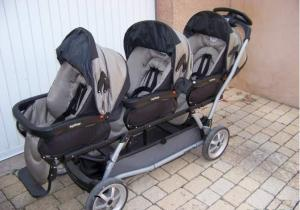 Poussette triple Double peg-perego