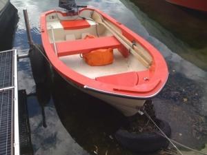 bateau à moteur avec chariot