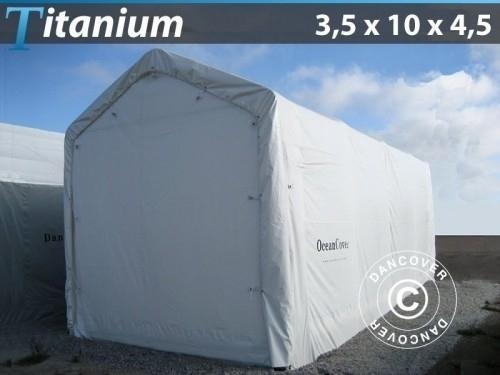 Lagerzelt Titanium 3,5x10x3,5x4,5m, Weiß