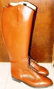 Bottes équitation en cuir brun 42