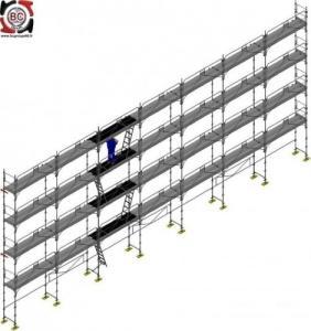 Echafaudage fixe 220 m2